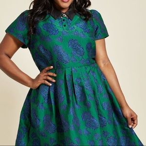 ModCloth Uniqueness On Offer Shirt Dress in Bloom